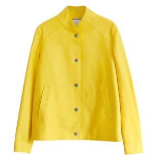 Harris Wharf Yellow Felted Wool Bomber Jacket