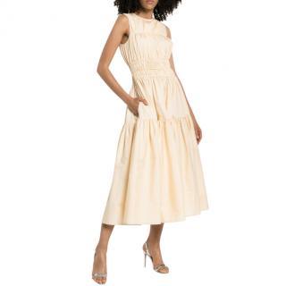 Roksanda Isilda Ruched Cotton Midi Dress