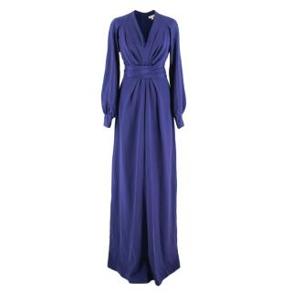 Dhela Royal Blue Silk Maxi Dress