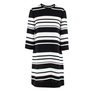Kate Spade Black and White Striped Slip Dress