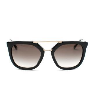 Prada Black & Gold Cinema Sunglasses