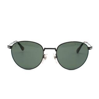 Persol Black Panto Round Sunglasses