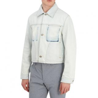 Maison Margiela SS18 Shadow pocket cropped denim jacket