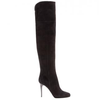 Jimmy Choo Brown Gypsy Suede Over-the-knee Boots
