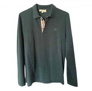 Burberry Bottle Green Polo Shirt