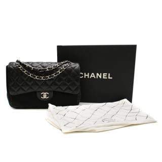 Chanel Black Quilted Lambskin Large Classic Double Flap Bag