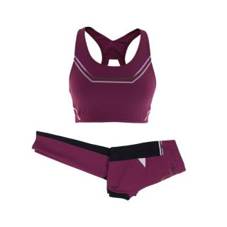 Lucas Hugh Purple Gym Leggings and Sports Bra