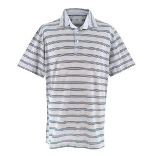 Cellini Grey Striped Polo Shirt