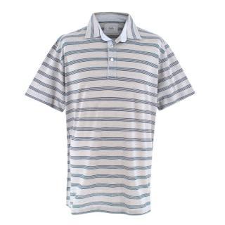 Cellini Grey Striped Polo Shirt