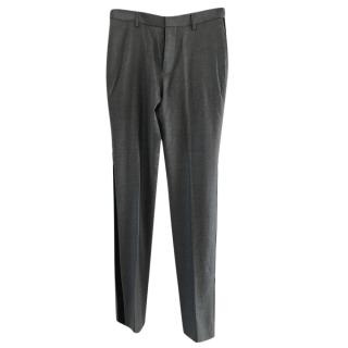 Balenciaga Grey wool Trousers with Side Stripe