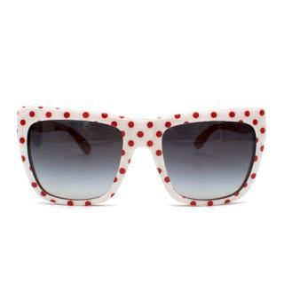 Dolce & Gabbana Red and White polka dot sunglasses