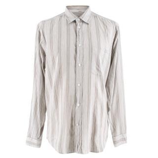 Ermenegildo Zegna Sport Striped Grey & White Shirt