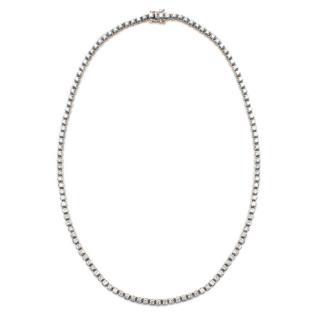 Bespoke 18kt White Gold Fine White Diamond Line Necklace