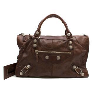 Balenciaga Giant 12 Gold City XL Bag in Brown