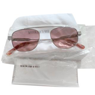 Han Kjobenhavn Men's Aviator Sunglasses