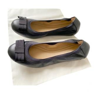Bally Black Leather ballerina flats