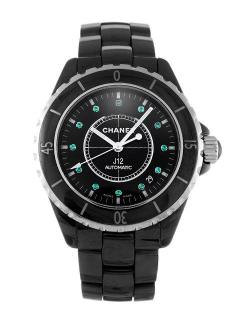 Chanel Black Ceramic Emerald J12 Watch