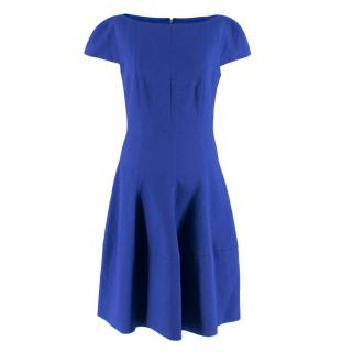 Talbot Runhof Blue Textured Midi Dress