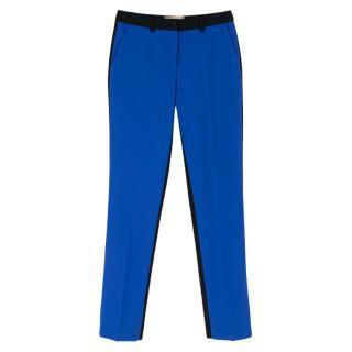 Michael Kors Black & Blue Colour Block Wool Trousers