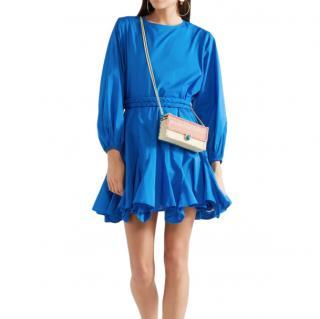 Rhode Resort Blue Ella Cotton Mini Dress