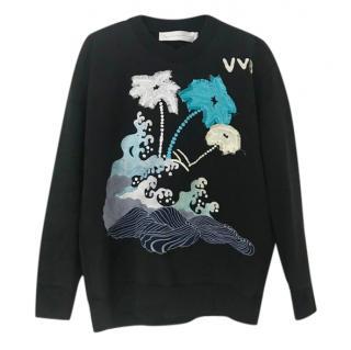 Victoria Victoria Beckham cotton embroidered sweatshirt