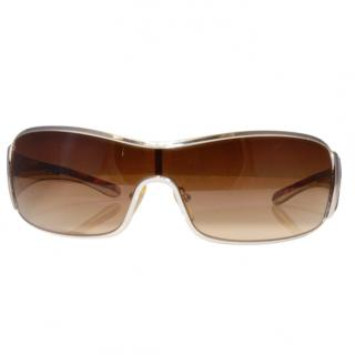 Prada Brown & Gold SPR53H Sunglasses
