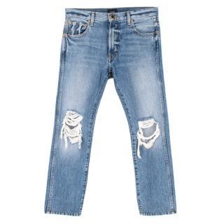 Khaite Blue Denim Kyle Distressed Jeans
