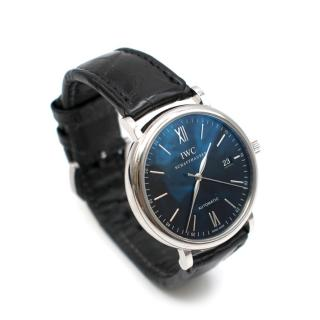 IWC Black Portofino 40mm Mens Watch