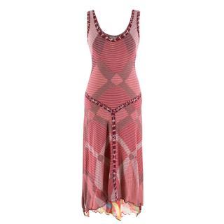 Missoni Sport Red Striped Handkerchief Dress