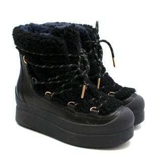 Tory Burch Black Chunky Winter Boots