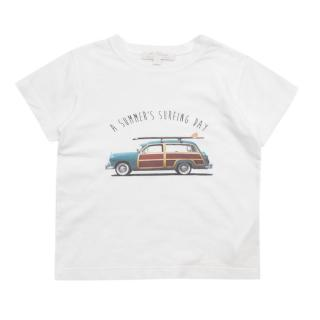 M. Ferrari White A Summer's Surfing Day T-shirt