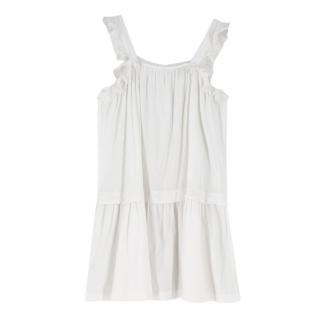 Stella McCartney Kids 11Y White Ruffled SleevelessDress