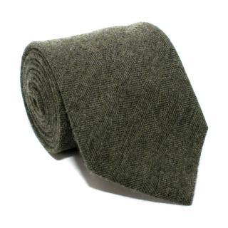 E. Marinella Green Wool Blend Tie