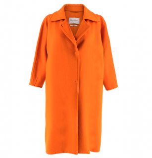 Max Mara Orange Wool Oversize Coat