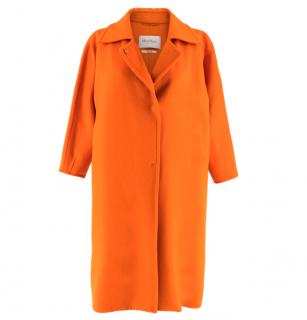 Max Mara Orange Wool Oversize Coat