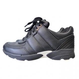 Chanel Black Calfskin CC Sneakers