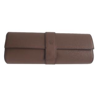 Rolex Brown Calfskin Watch Travel Case