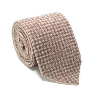 Marzulo Beige Printed Wool Tie