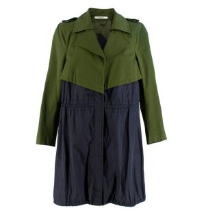 Givenchy Green and Blue Trench Raincoat