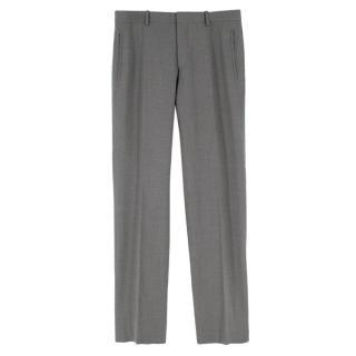 Joseph Men's Grey Straight Leg Trousers
