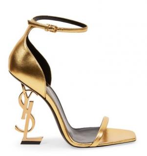 Saint Laurent Metallic Gold Opyum Sandals