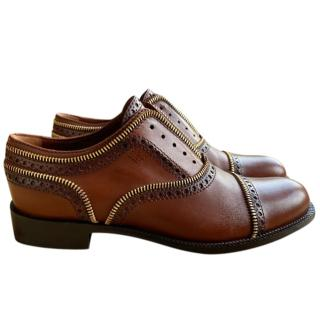 Louis Vuitton brown leather brogues