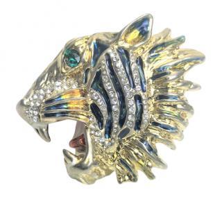 Gucci Rajah multi fingered crystal ring