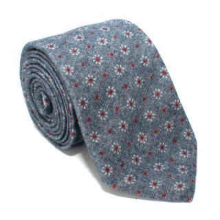 Rossi & Ghezi Blue Wool Tie