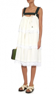 Vivienne Westwood Harness Lace-Trimmed Tiered Dress