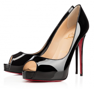 Christian Louboutin Black Patent New Very Prive 120mm Pumps