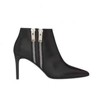 Saint Laurent Double Zip 80mm Ankle Boots
