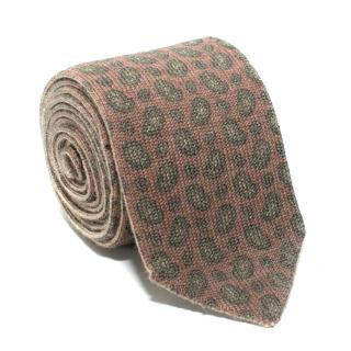 Marzullo Beige Animal Print Wool Tie