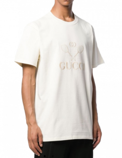 Gucci Oversize Tennis Embroidered T-Shirt