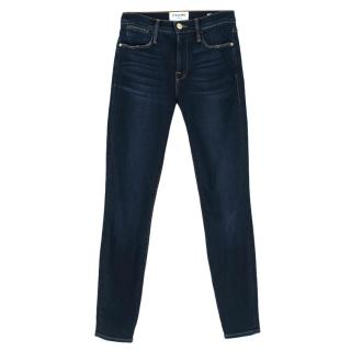 Frame Denim Dark Blue Le High Skinny Jeans